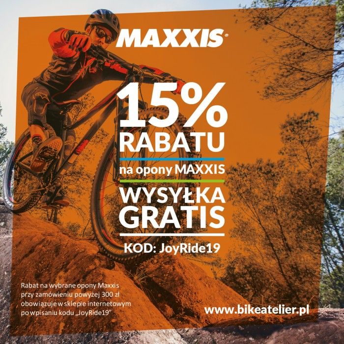 Opony Maxxis tańsze przed Joy Ride! -15% od 10 do 12 maja + wysyłka gratis