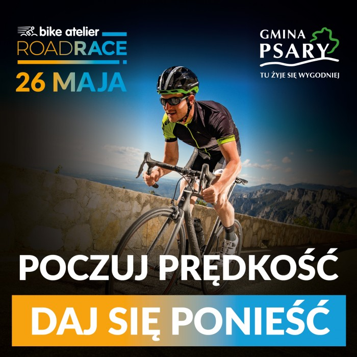 Ścigaj się na szosie w Psarach. 26 maja Bike Atelier Road Race!