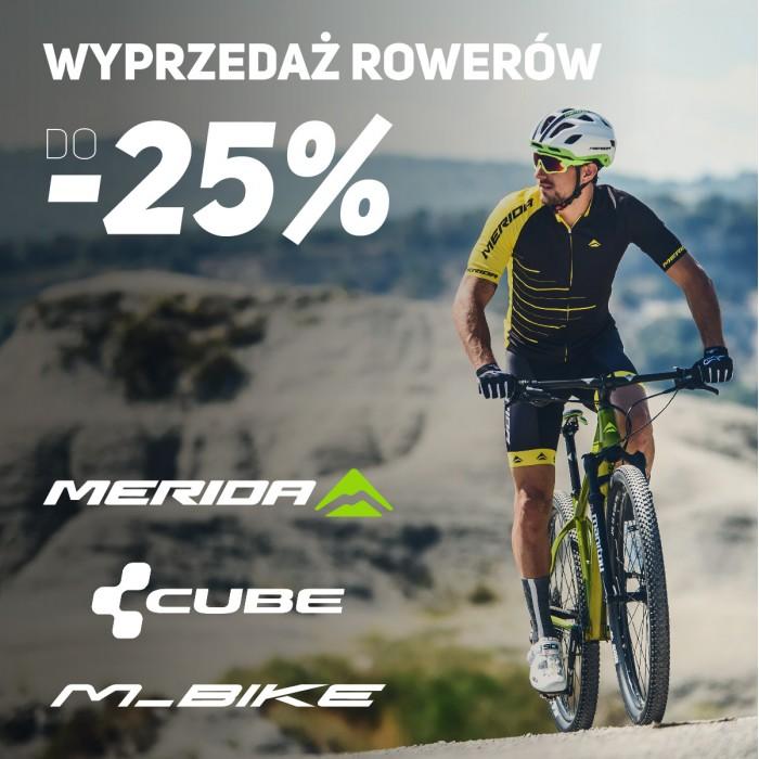 Wielka wyprzedaż rowerów w Bike Atelier! Merida, Cube i M_Bike taniej nawet o 25%